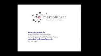 Marco Fuhrer: Headhunter. IT-Jobs. Schweiz: Über mich