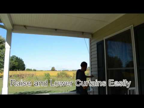 Clear Vinyl Porch Curtains - YouTube