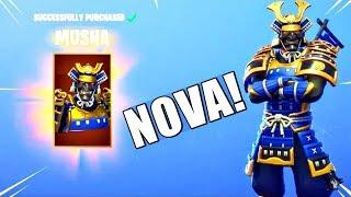 NOVO! MUSHA & HIME SKINS! (Novo EMOTE Loja Atualizada) Fortnite Battle Royale