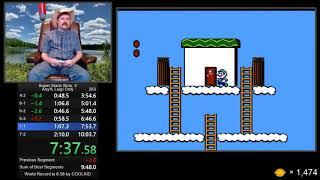 Super Mario Bros 2 (Luigi only) speedrun in 9:56 by Arcus