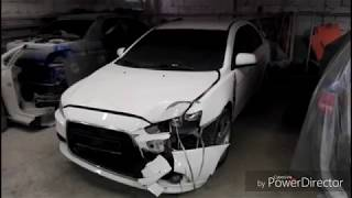 Митсубиси Лансер кузовной ремонт и покраска. Mitsubishi Lancer Body repair
