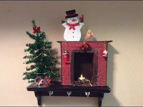 Chimenea decorativa navidad carton y porespan youtube - Como se construye una chimenea ...