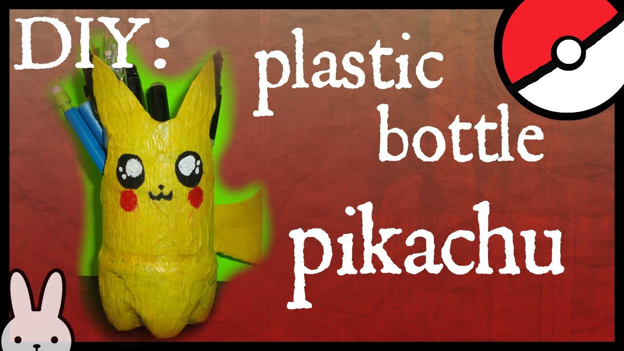 DIY: How to Make a Plastic Bottle Pikachu / pencil holder / plant ... for Diy Plastic Bottle Pen Holder  67qdu