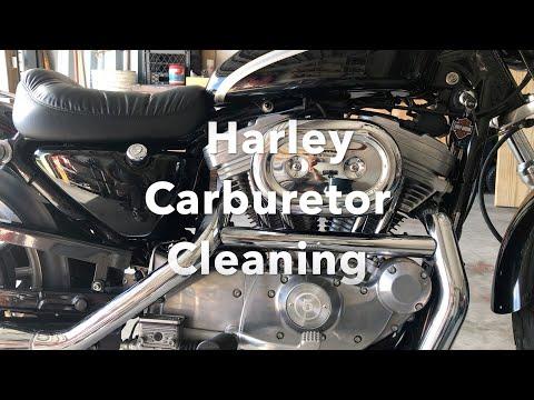 Harley Davidson Sportster Carburetor Cleaning.