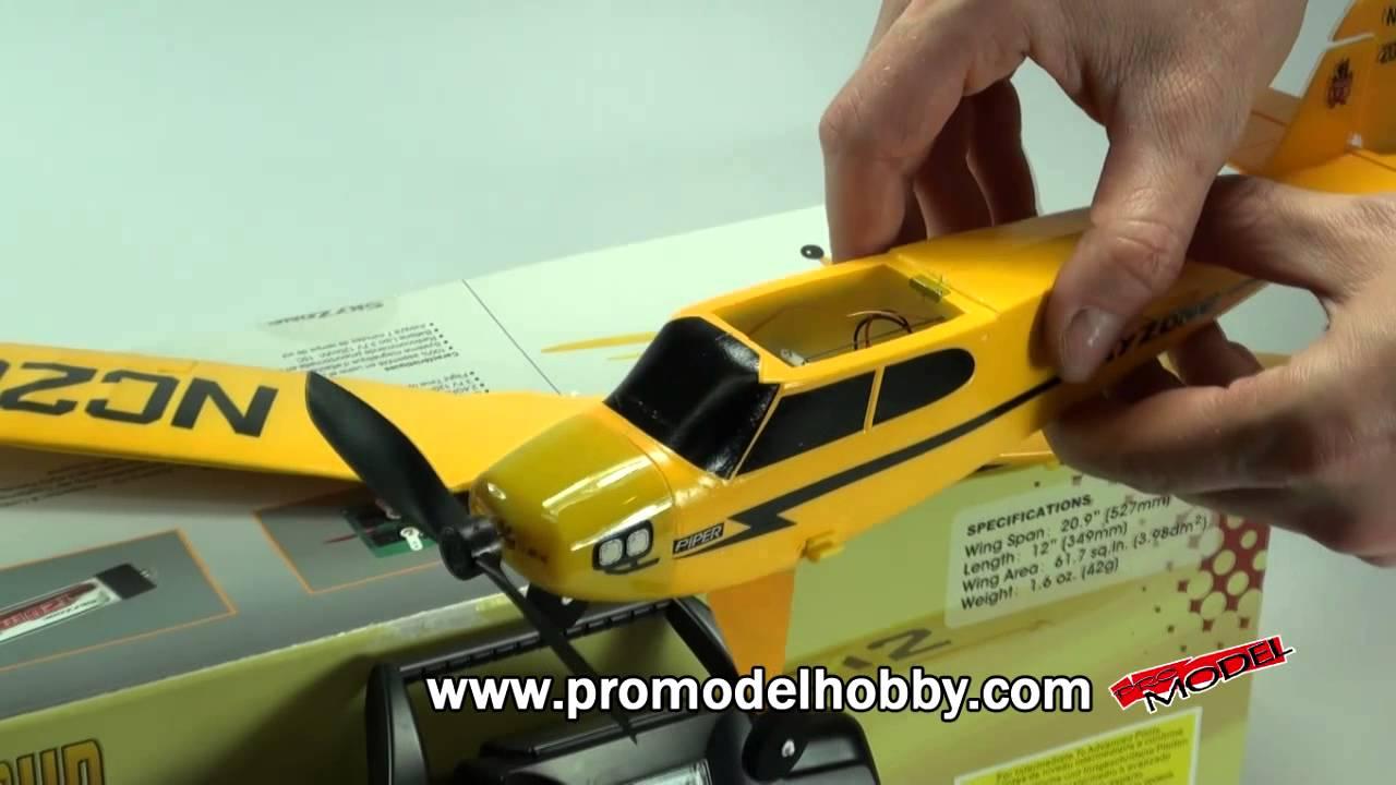 - SkyZone Piper J-3 Cub Micro Park Flyer - YouTube