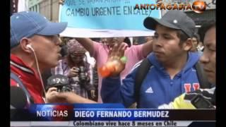 Enfrentamientos verbales en marcha contra inmigrantes en Antofagasta