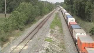 3 eastbound CSX trains near the Indiana-Ohio border