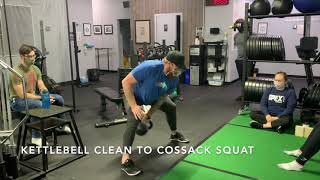 Kettlebell Clean to Cossack Squat
