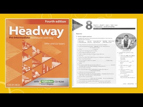 New Headway Pre-intermediate Exercise Book 4th -Unit :08