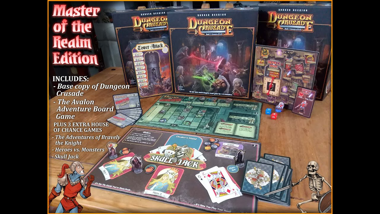 Dungeon Crusade: Master of the Realm Edition is now at The Wandering Dragon!