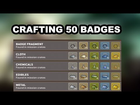 THE WALKING DEAD NO MANS LAND CRAFTING 50 BADGES PART 1