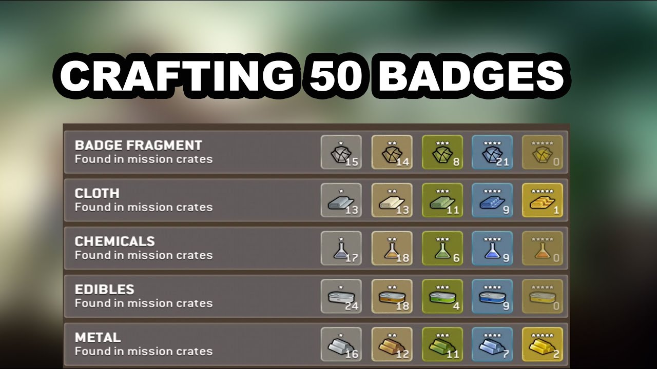 Walking Dead No Man S Land Crafting Badges