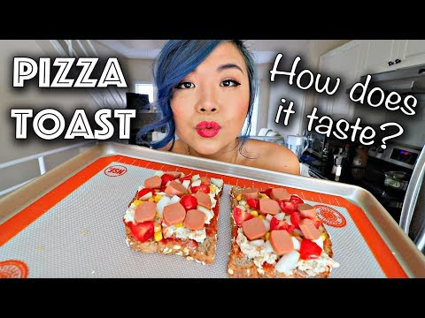 Making PIZZA TOAST... how does it taste?! (Easy Vegan Recipe)
