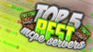 TOP 5 BEST MCPE SERVERS!!! - Minecraft (Pocket Edition, Xbox, Windows 10)