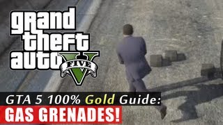 GTA 5 Walkthrough: Gas Grenades (100% Gold Completion) HD