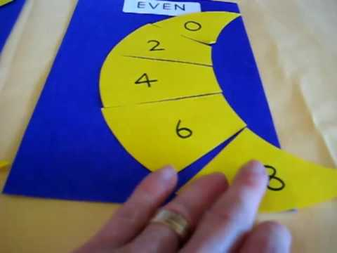 Grade 1 - Math/Arithmetic, Science, Solar system theme: Odd and Even numbers with moon game.