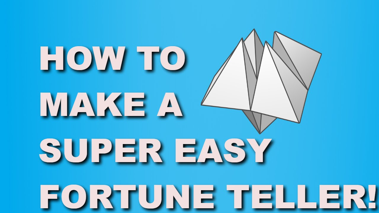 How to Make a Paper Fortune Teller – Boys' Life magazine | 720x1280