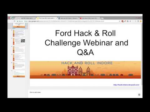 Ford Hack & Roll Indore Webinar 1