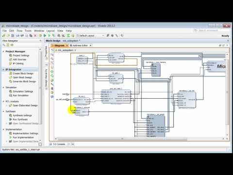 Creating a Simple MicroBlaze Design in IP Integrator