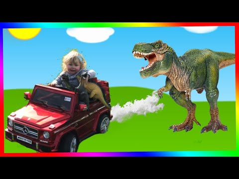 KIDS RIDE ON MERCEDES AMG || KIDS DINOSAURS || KIDS ELECTRIC TOY CARS