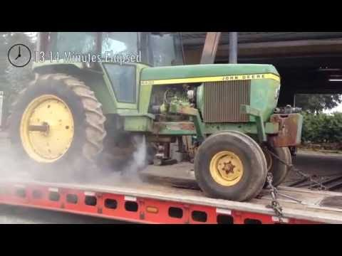 Running a 125 HP John Deere Diesel Tractor Engine to Failure – No Oil or Water