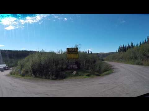 Taylor Highway, Chicken, Alaska to Top of the World Highway, West Dawson, Yukon Territory, Canada