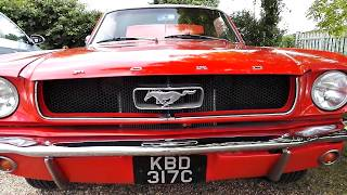 1965 Ford Mustang C Code Coupe 289 V8 in 'Poppy Red'