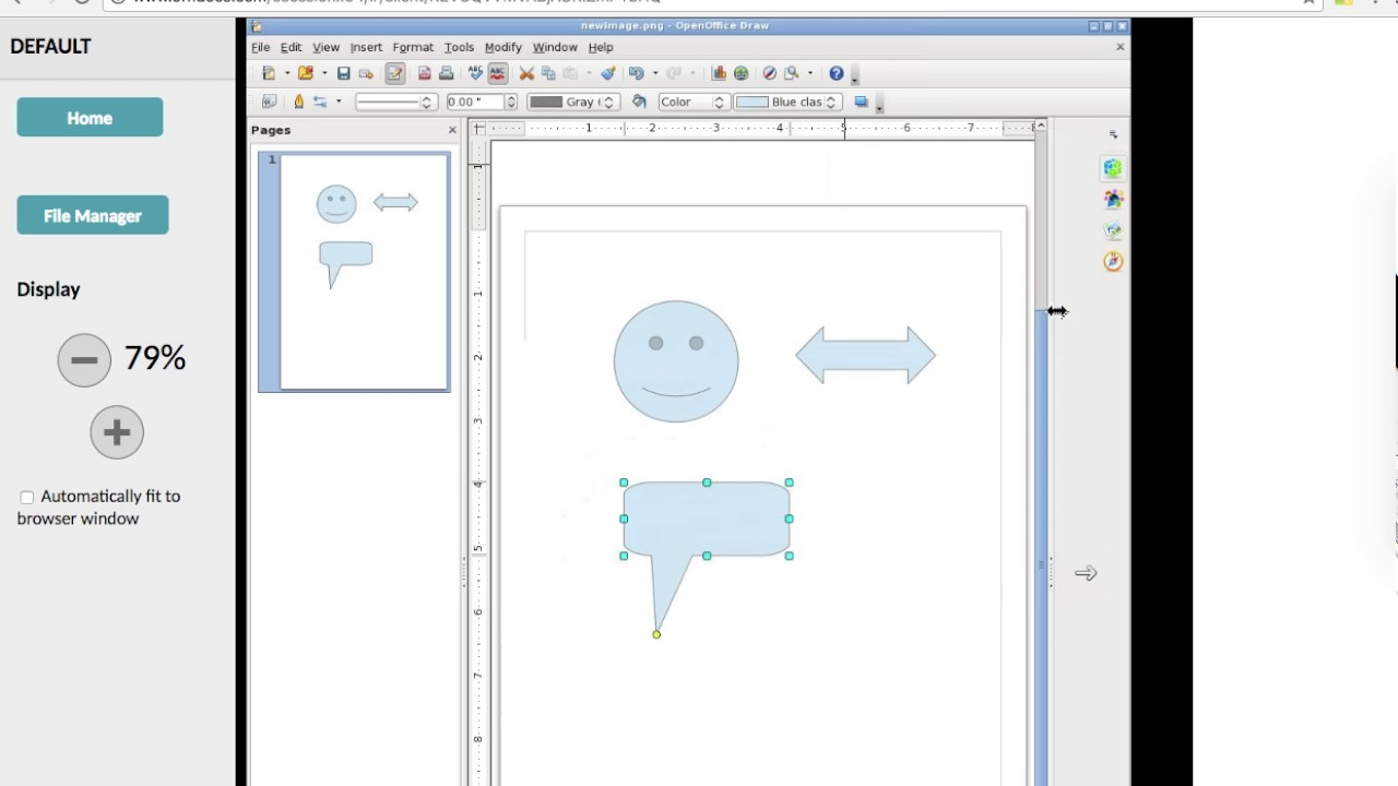 Use OpenOffice Draw online editor for graphics App - OffiDocs