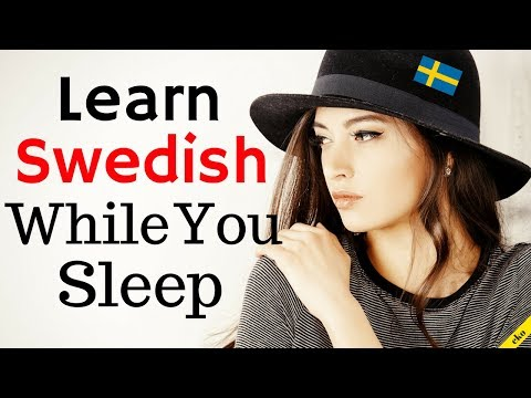 Learn Swedish While You Sleep 😀  Most Important Swedish Phrases and Words 😀 English/Swedish (8 Hour)