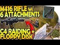 M416 RIFLE w/ 6 ATTACHMENTS / MODS - C4 RAIDING + FLOPPY DISK - Last Day On Earth Survival 1.9.4