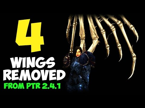 Diablo 3 - The 4 Removed Wings from PTR Patch 2.4.1 - Adria, Tethrys and Magda Wings
