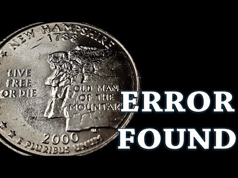 2000 New Hampshire Quarter Error Found!