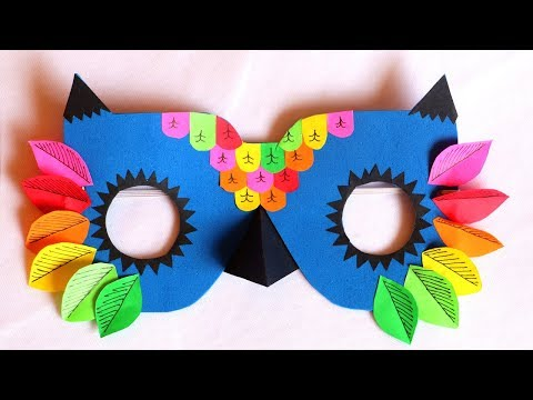 DIY Mask | How to make Owl Mask for kids | Pinterest inspired DIY Animal Mask