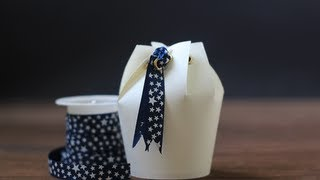 Paper Cups, Gift Boxes, Package, DIY, عيدية أنيقة, عيد, Gift wrap ideas
