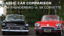 Classic Car Comparison | '59 Corvette vs '55 Thunderbird | Driving.ca