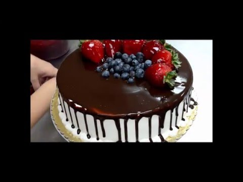 How To Decorate Birthday Cake From Chocolate And Fruit