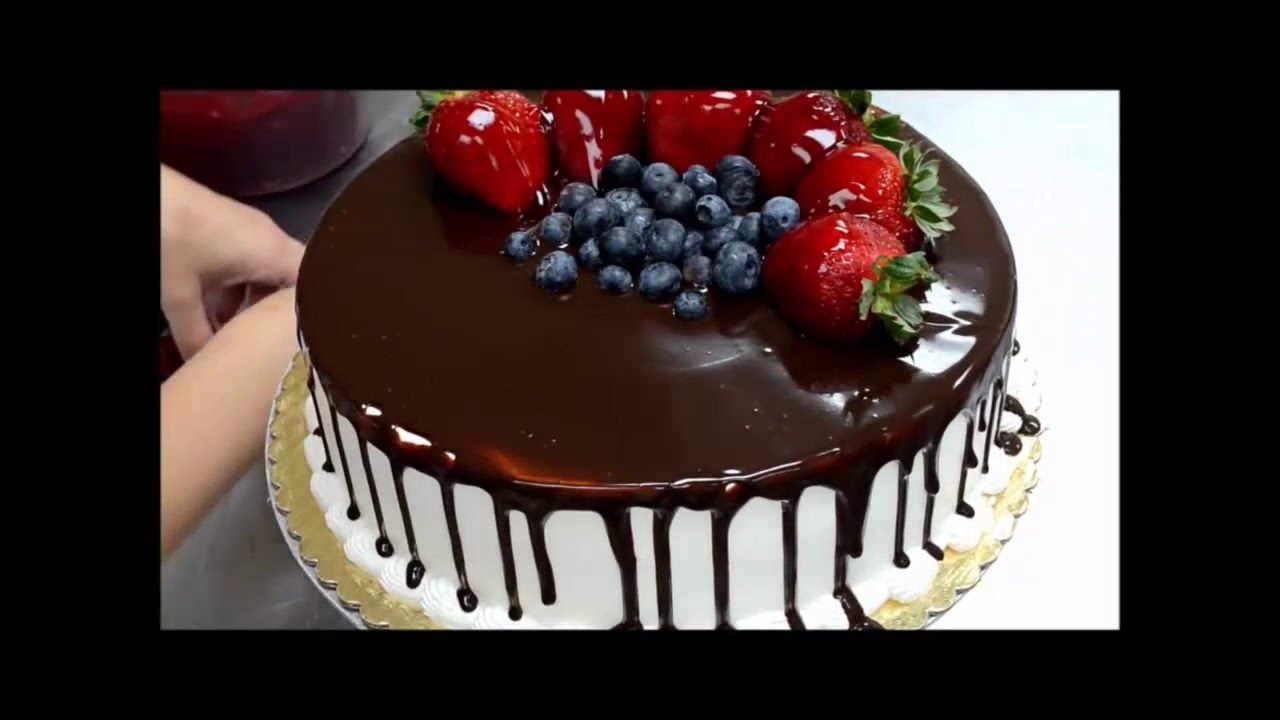 How to decorate Birthday Cake from Chocolate and Fruit YouTube