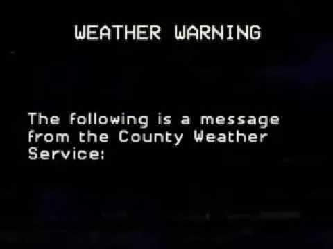 Meterological warning