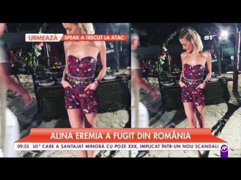 Alina Eremia se distrează în Africa