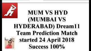 dream 11 team for 1st semi final mum vs hyd match