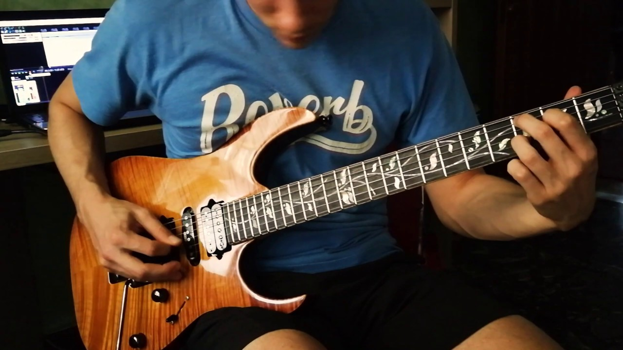Ibanez JCUSTOM GUITAR DEMO (Rg8570z-bbe) - impro metal solo & first audio test with MAMA PICKUPS