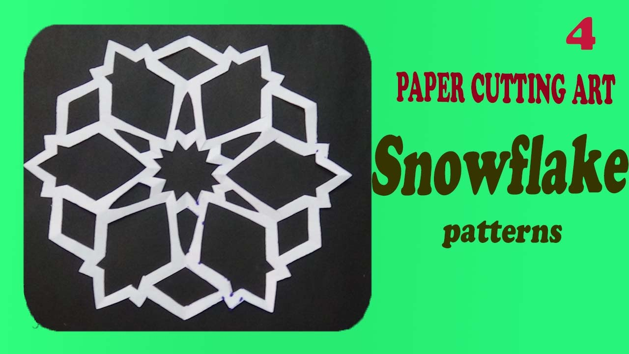 Papercraft snowflake patterns