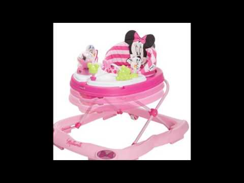Disney Minnie Mouse Glitter Music and Lights Walker, Pink - Best Kides Ride on Toys