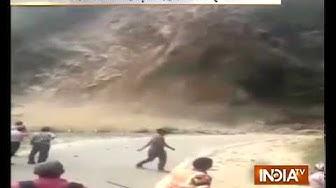 Landslide in Champawat of Uttarakhand