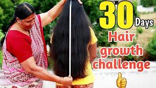 நீங்க சொன்ன👉30days Hair growth challenge start பண்ணியாச்சு😍||#Jegathees_meena