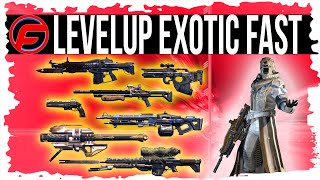 Destiny How To LEVEL UP YOUR EXOTIC WEAPON FAST FASTEST Way to UPGRADE EXOTIC WEAPONS