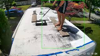 Dicor EPDM Rubber Roofing Coating System Timelapse
