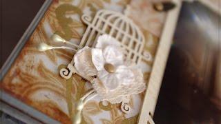 Скрапбукинг. Свадебный альбом ручной работы с инкрустацией стразами