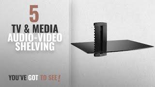 Top 10 Tv & Media Audio-Video Shelving [2018]: WALI DVD DVR VCR Wall Mount Bracket Component Shelf
