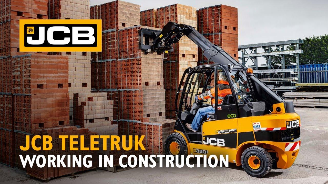 JCB Teletruk working in Construction